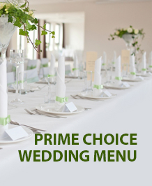 Prime Choice Wedding Menu