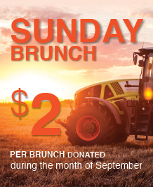 $2 per Sunday Brunch Donation